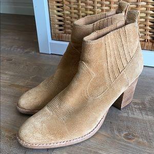 Dolce vita - camel western booties.
